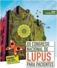 Hoy es el Día Mundial del Lupus  Mañana se celebra el Congreso para pacientes de Lupus, organizado por la Federación Española de Lupus (FELUPUS) y la Asociación Madrileña de Enfermos de Lupus y Amigos (AMELYA).    Madrid será la ciudad que acoja este evento que reúne cada año a cientos de lúpicos, médicos, familiares, etc., para conmemorar el Día Mundial del Lupus, que, como ya sabéis, se celebra el 10 de Mayo.