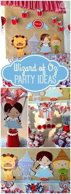How cute is this Wizard of Oz girl birthday party?! See more party ideas at CatchMyParty.com!
