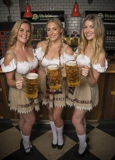 Oktoberfest, is one of the biggest beer festivals in the world. This fun fest is being held in Munich, Germany and lasts 16 days, from around mid September, up to beginning of October. This festival is a very important part of the Bavarian culture and has German Girls, German Women, Octoberfest Girls, Beer Maid, Beer Girl, Beer Festival, Sexy Outfits, Lady, Style