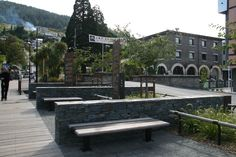 Village Green planting and street furniture