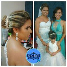Maquiagem e penteado para noivas. Ateliê de Maquiagem Ariana Melo