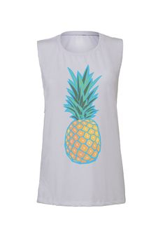 pineapple workout tank workout top workout by SweetestThingCo