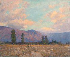Alson Skinner Clark - San Gabriel Foothills, Pasadena, Oil on canvas, , , Early California, None, None
