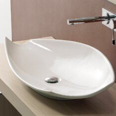 Kong Ceramic Oval Vessel Bathroom Sink Sink Wall Mounted
