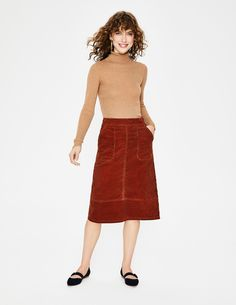Discover our range of skirts for women at Boden, from smart midi skirts to stylish partywear. Everyday Look, Everyday Fashion, Mid Length Skirts, Autumn Fashion 2018, Smart Styles, Black Blazers, Spring Outfits, Cool Style, High Waisted Skirt