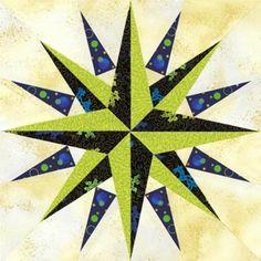 Pioneer's Compass Quilt Block Pattern
