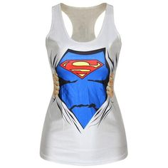 Superwoman Style 3d Print Fashion Tank Top Superman Super Girl Shirt ($19) ❤ liked on Polyvore featuring tops, black, tanks, women's clothing, print tank top, black tank, print shirts, shirt tank and print top