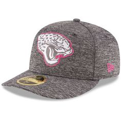 ccb530e858f Men s Jacksonville Jaguars New Era Heather Gray 2016 Breast Cancer  Awareness Sideline Official Low Profile 59FIFTY Fitted Hat