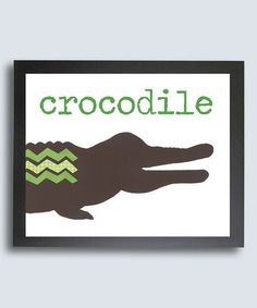 Love this Jungle Love 'Crocodile' Print by Just Bunch Designs on #zulily! #zulilyfinds