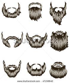 stock-vector-set-of-hand-drawn-beards-47158840.jpg (395×470)