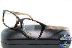 Coach RX Eyeglasses HC 6047F 5204 (Libby) Tortoise/Brown Horn Frame [51-16-135]  | eBay
