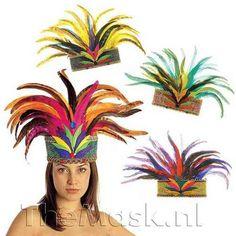 Rio De Janeiro Feather Crown Hat for South American Brazil Brasilian Carnival Fancy Dress Accessory Carnival Parade, Rio Carnival, Carnival Themes, Carnival Masks, Carnival Dress, Carnival Decorations, Carnival Costumes, Samba Rio, Olympic Idea