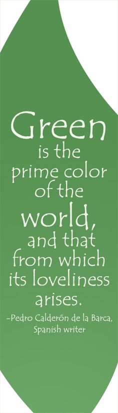 green is the color of the world