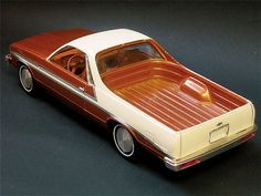 "1978 El Camino from the year of my birth in classic two-tone. Como se llama ""dream car""?"