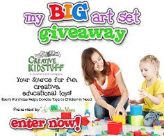 Enter to Win a $200 Kids Art Set Full of Art Supplies!