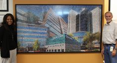 The Qualcomm Mural made up of 1,200+ photos of employees and events.
