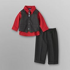 $21 Jonathan Strong Infant & Toddler Boy's Dress Pants & Vest Set - Baby - Baby & Toddler Clothing - Collections & Sets