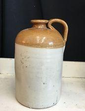 Antique Australian Pottery Stoneware Demijohn Bottle Spirit Wine Vintage 1800s
