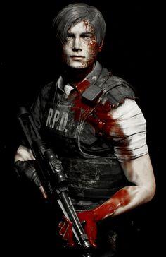 Resident Evil Anime, Resident Evil 3 Remake, Resident Evil Franchise, Borderlands Art, Dante Devil May Cry, Leon S Kennedy, Horror Video Games, Evil Art, Zombie Art