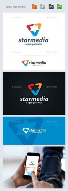 Buy Star Media Logo Template by BeLoveArt on GraphicRiver. Star Media Logo TemplateLogo is made with vectors for easy resizing and customizing – all texts can be rewritten even. Logo Design Template, Logo Templates, Star Template, Star Logo, Media Logo, Custom Fonts, Symbol Logo, Home Logo, Monogram Logo