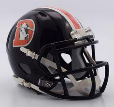 New! Denver Broncos Helmet - Riddell Replica Mini - Speed Style - Color Rush #DenverBroncos