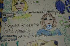 Art Journal Calendar faces washi tape