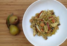 Pear, Roasted Carrot, and Ginger Quinoa Pilaf