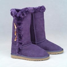 Purple Sheepskin Ugg Boots  uggs are never okay for badge attire. unless you only wear it to walk in the snow outside and change your shoes once you get in the building.