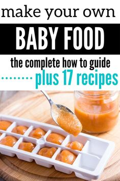 How to make your own baby food Starting solids with baby soon? Learn how to make easy homemade baby food. You'll learn how to make your own baby food plus gain 17 recipes for stage 1 and stage 2 baby food. I'll also cover how to introduce new foods to you Baby Food Guide, Baby Food Recipes Stage 1, Food Guide For Babies, 6 Month Baby Food, Baby Food By Age, Food Baby, Baby Solid Food, Banana Baby Food, Baby Puree Recipes