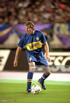 Martin Palermo of Boca Juniors in action during the Toyota Intercontinental Cup against Real Madrid in the National Stadiu,Tokyo,Japan. Boca Juniors won the match 2-1. \ Mandatory Credit: Shaun Botterill /Allsport