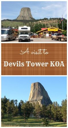 The Touring Camper stopped to see the iconic Devils Tower, and camped just feet from the national park entrance at the Devils Tower KOA.