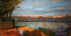 Visión Utópica de Paine Landscape Paintings, Scenery, Paintings, Art