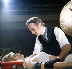 Baron Victor Frankenstein (Peter Cushing) & Christina (Susan Denberg) - Frankenstein Created Woman (1967)