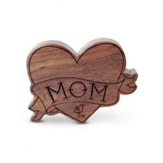 I Love Mom Wooden Rattle