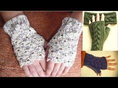 Como tejer mitones, guantes sin dedos a crochet, paso a paso (1/2) - YouTube