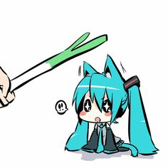 Miku Hatsune Chibi Anime gif D.Demo what abt the leek =O. Anime Chibi, Manga Anime, Kawaii Chibi, Anime Art, Manga Girl, Anime Girls, Vocaloid, Anime No Sekai, Gifs Kawaii