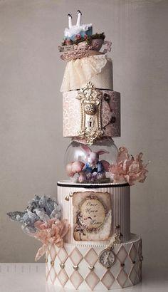 Alice In Wonderland Tea Party Birthday, Alice In Wonderland Cakes, Alice In Wonderland Birthday, Crazy Cakes, Fancy Cakes, Cute Cakes, Pretty Cakes, Gorgeous Cakes, Amazing Cakes