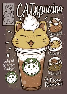 Cat Character, Character Design, Cat Signs, Cute Kawaii Drawings, Princess Art, Kawaii Cat, Animal Posters, Anime Animals, Marker Art