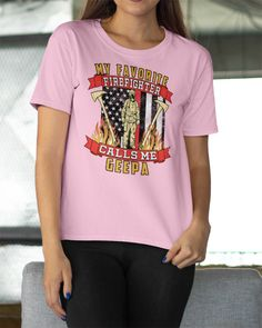 My Favorite Firefighter Calls Me Geepa Mugs - Light Pink diy firefighter gifts, wildland firefighter, christmas firefighter #firewife #firegirlfriend #likebunkergear, dried orange slices, yule decorations, scandinavian christmas Volunteer Firefighter Quotes, Firefighter Humor, Firefighter Baby, Female Firefighter, Firefighter Training, Firefighter Boyfriend, Wildland Firefighter, Firefighter Costume Toddler, Bro