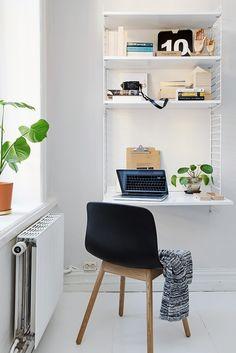 Sovrummet erbjuder också en liten arbetsplats