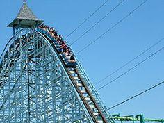 Blue streak1 CP.JPG  First roller coaster I ever rode. Still a great ride, Cedar Point still my favorite park.