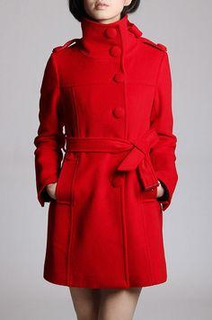 JulyS Red wool coat J080.