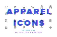 Apparel Icons Vol 01 by PixelSauce on @creativemarket