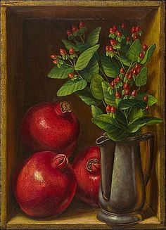 Pomegranates with Hypericum, 2009 - Denise Mickilowski (American, born 1959)