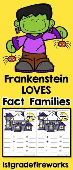 Halloween themed FACT FAMILY BOOKLETS.Fact Family - Booklet style Cover, guided practice pages, independent practice pages Halloween Themed Available in Color & B/W #Halloween