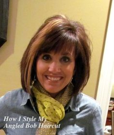 How To Style An Angled Bob...This is a great tutorial.  The missing link for me.
