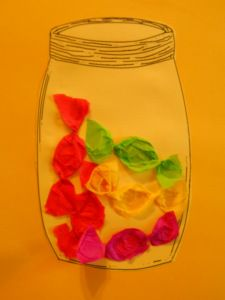 Bonbons im Glas http://primimaus.wordpress.com/2014/08/01/kunst-1-klasse/