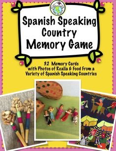 Your students will love playing this Memory game with photos of food and realia from a variety of Spanish speaking countries! Perfect as a fast finisher or center activity. #culture Mundo de Pepita, Resources for Teaching Spanish to Children