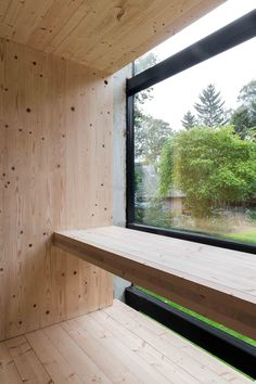 be architecten industrial concrete glass architect house minimalist raw wood design furniture clt wood yannick milpas House Window Design, House Design, Tiny Container House, Minimalist Window, Plywood Interior, Modern Barn House, Wood Architecture, Cabin Interiors, Interior Decorating