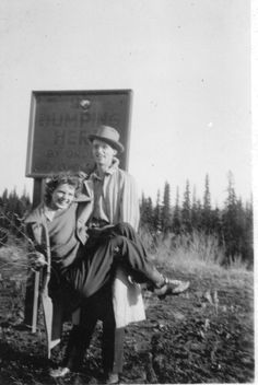 Tanner:with husband Ches on honeymoon. Unlike several other early women architects, she combined career with family.